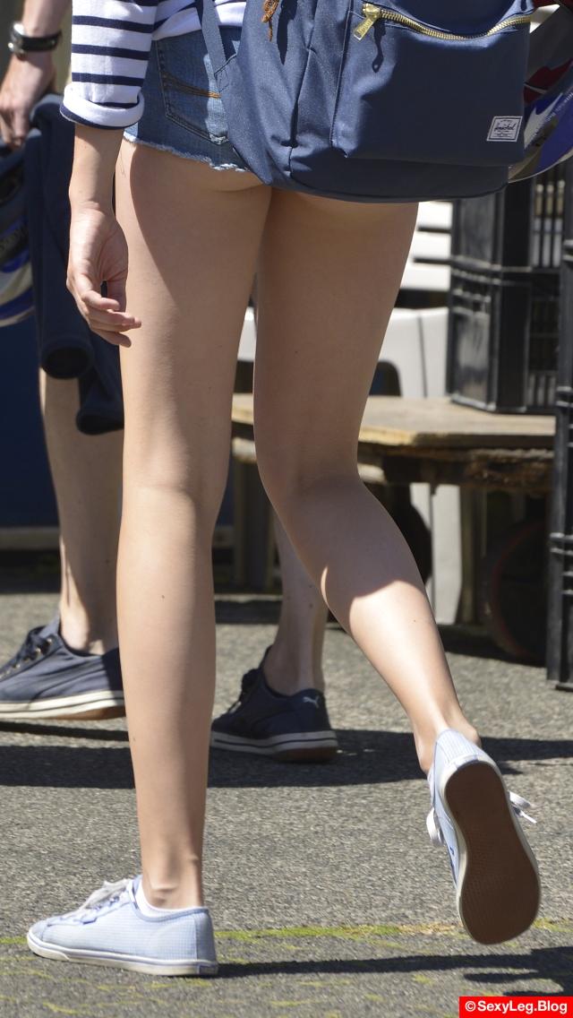 Sexy Ass and Long Legs in Butt Shorts