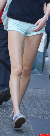 Sexy Slim and Long Legs in Shorts