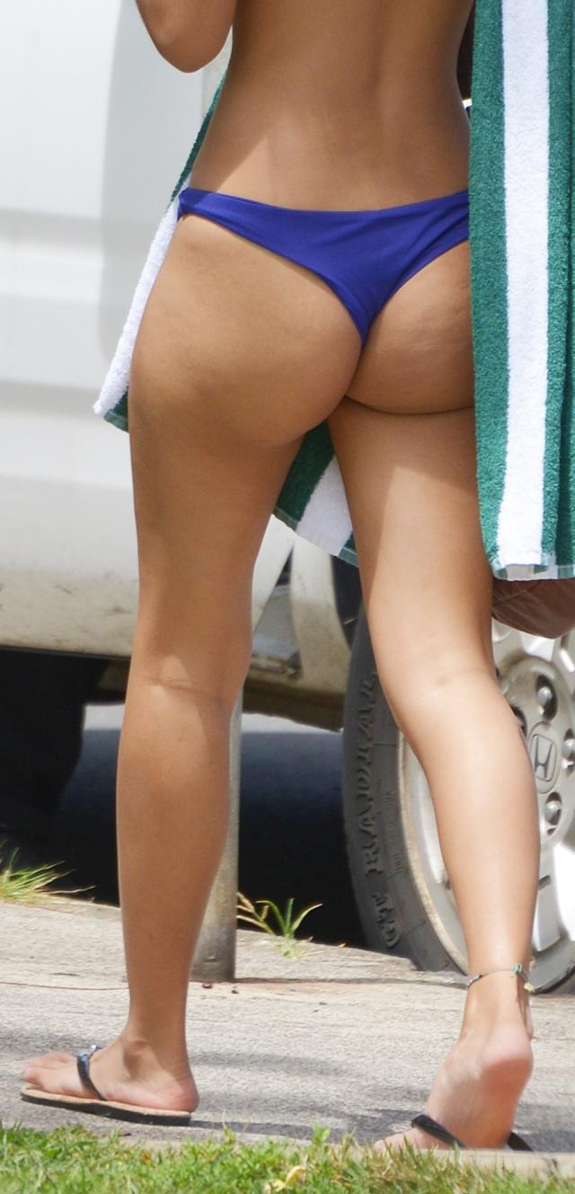 Sexy Legs and Ass in Blue Bikini